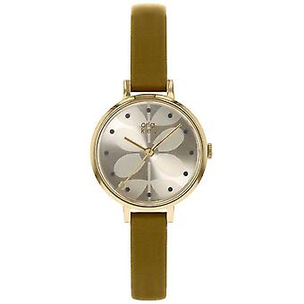 Orla Kiely | Ladies Ivy | Gold Case | Light Olive Strap OK2256 Watch