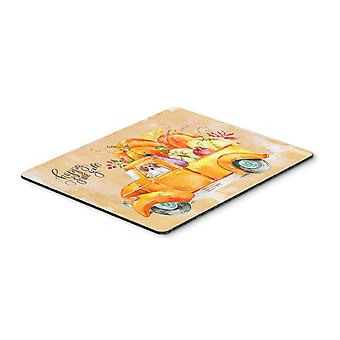 Carolines Treasures  CK2654MP Fall Harvest Beagle Mouse Pad, Hot Pad or Trivet
