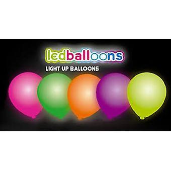 Ballonnen met led-licht nr.10 pak a 5 st