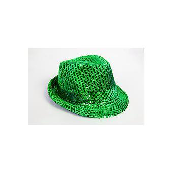 Chapeau de chapeaux paillettes vert
