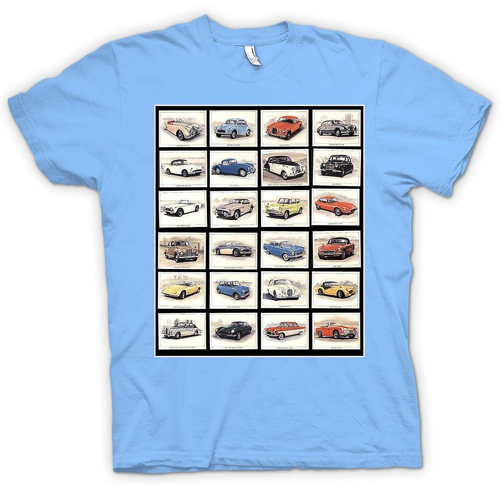 Hommes T-shirt - Classic Motor Car Collage - Affiche