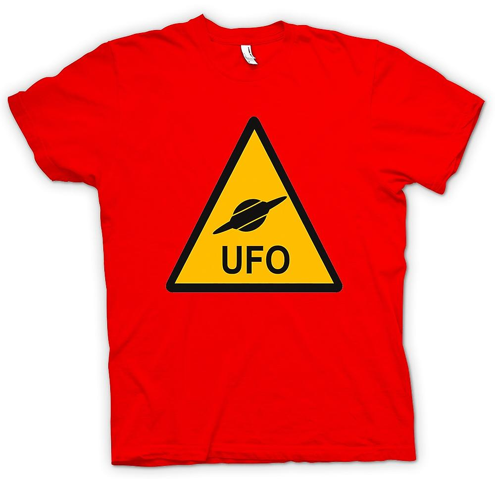 Herr T-shirt - UFO varningstecken - roliga barn