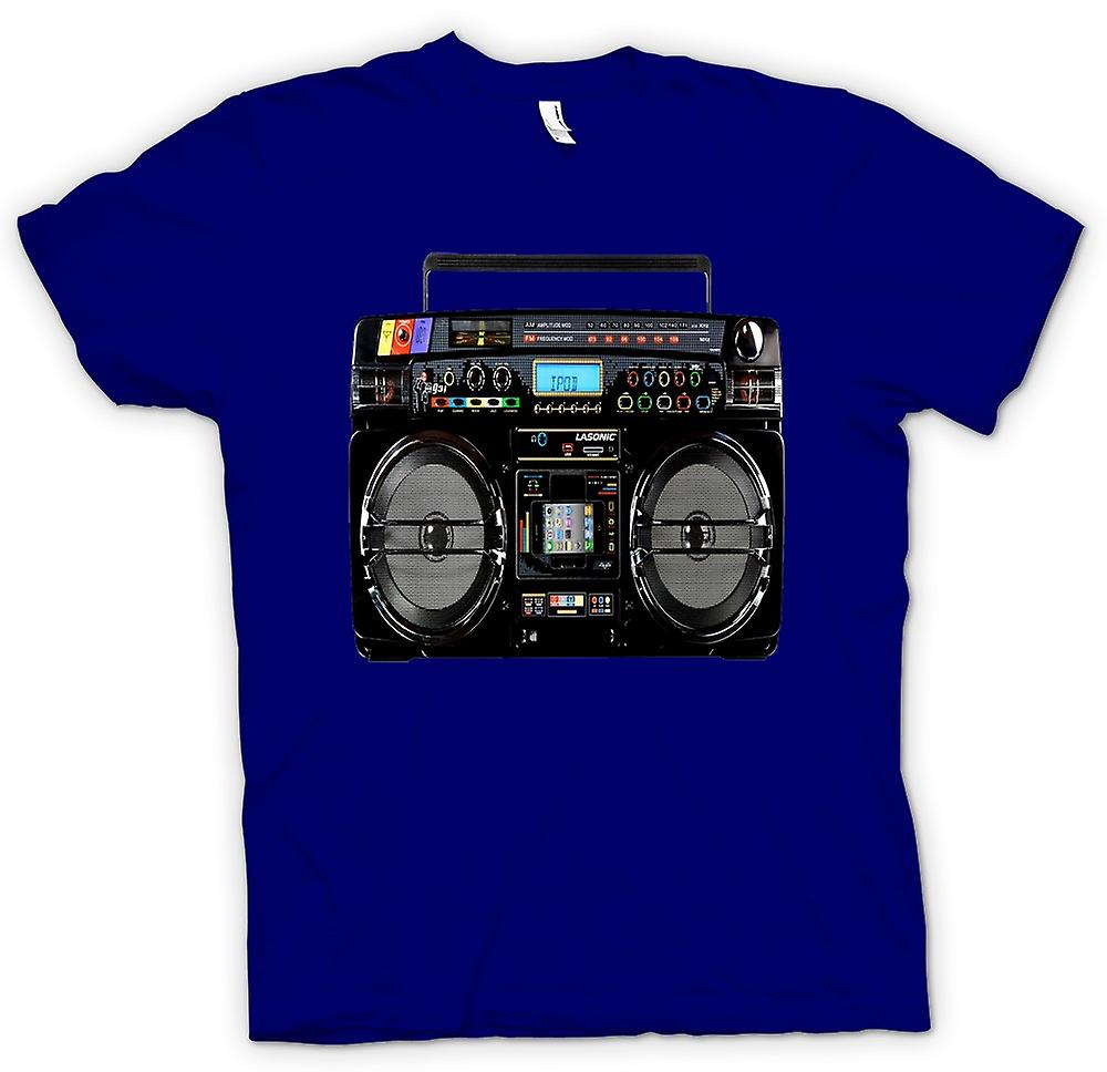 Hommes T-shirt - iPod - Ghetto Boom Box