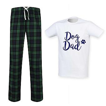 Mens Dog Dad Tartan Pyjama Set