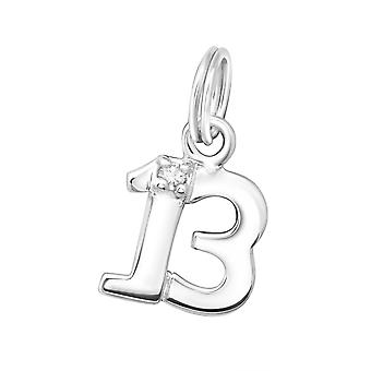 Thirteen - 925 Sterling Silver Charms with Split ring - W16237X