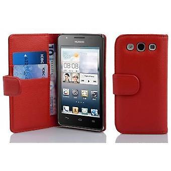 Cadorabo sag for Huawei ASCEND G525/G520 Case Cover-sag sag sag i struktureret imiteret læder med stativ funktion og kort rum-sag Cover sag sag sag case sag bog folde stil