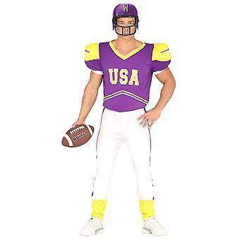 Mens USA Quarterback Fancy Dress Costume