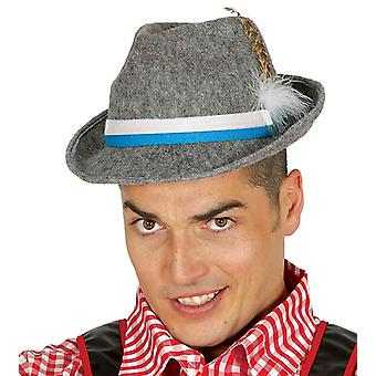Mens Grey Oktoberfest Hat Fancy Dress Accessory