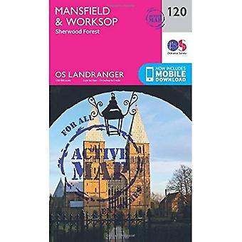 Mansfield & Worksop, Sherwood Forest (OS Landranger Map)