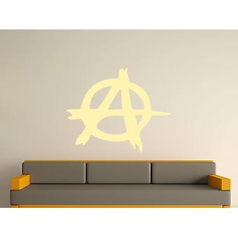 Anarchy Symbole Wall Art autocollants - Beige