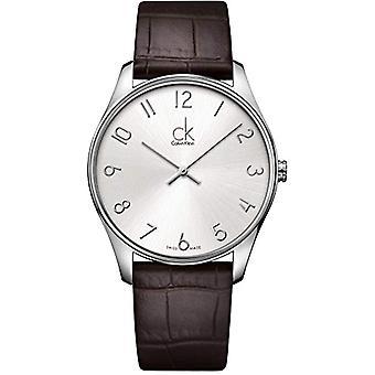 Calvin Klein, men's wristwatch, quartz analog leather K4D211G6