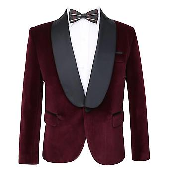 Kingsman Harry Hart Velvet Burgundy Tuxedo Jacket for Boys