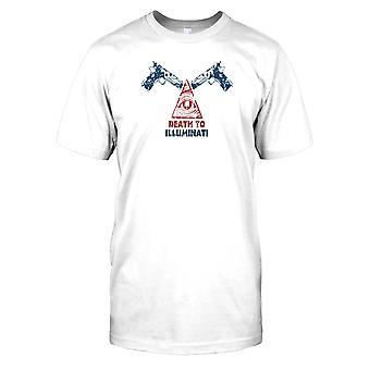 Död åt Illuminati - konspiration Mens T Shirt