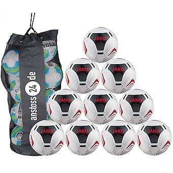 10 x JAKO utbildning ball prestige inkluderar bollen säck
