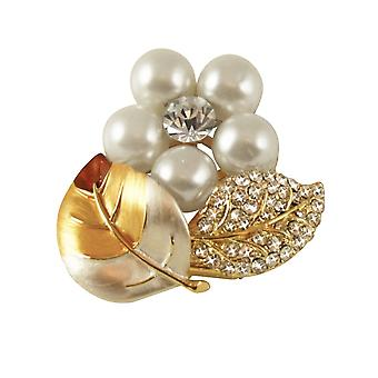 Eternal Collection Forever Autumn Enamel Pearl And Crystal Scarf Clip