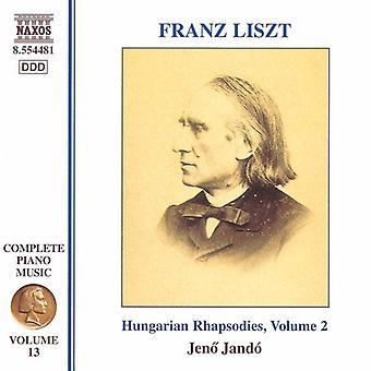 F. Liszt - Liszt: Ungarische Rhapsodien, Vol. 2 [CD] USA import