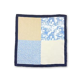 Olymp Pocket Square in blue multiple pattern