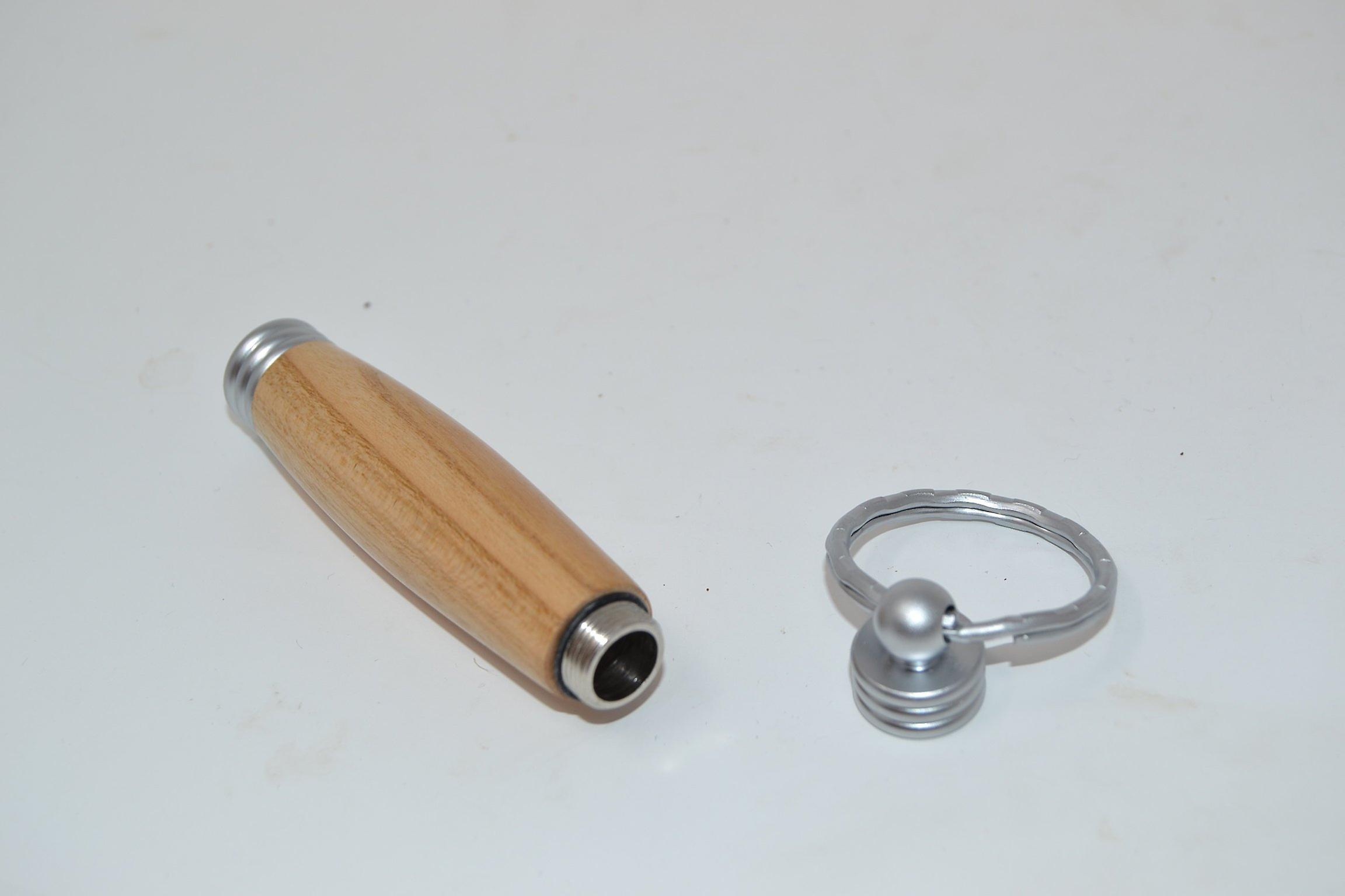 Wood Cherry with a secret compartment handmade Keychain key chain made of wood made in Austria