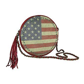 Montana West American Pride Vintage Flag Round Chain Handle Handbag