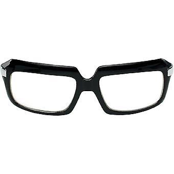 Glasses 80's Scratcher Blk Clr - 15315