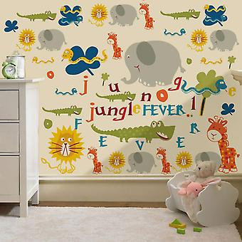 Klar støt seng® børns jungle feber design vinyl Wall klistermærker