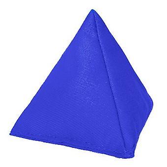 Azul de algodón triangular malabarismo bolsa de frijoles para jugar al aire libre