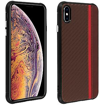 iPhone X / XS bi-material shockproof edges semi-rigid Brown