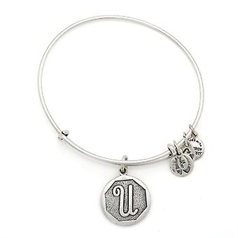 Alex en Ani eerste U Zilveren Bangle A13EB14US