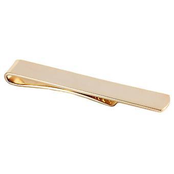 David Van Hagen Plain Skinny Tie Slide - Gold