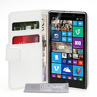 YouSave accessoires Nokia Lumia 930 LeatherEffect Wallet White affaire