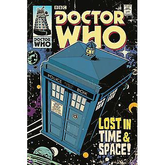 Affisch-Studio B-Dr WHO-TARDIS Comic Wall Art P5605