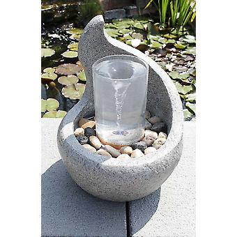 Trädgård Fountain Deco fontän FoCurvo med vatten strudel effekt 10898