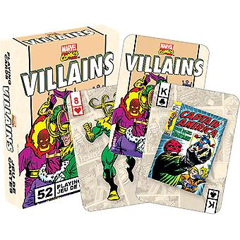Playing Card - Marvel - Villains Retro Poker Card Game New Licensed 52327