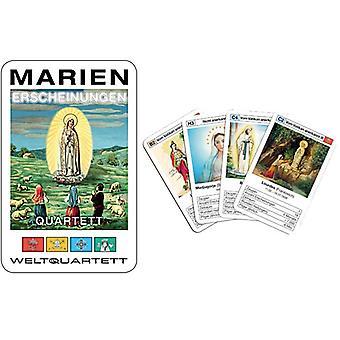 Jogo de cartas da Mary quarteto de aparições Marianas maravilha Quarteto