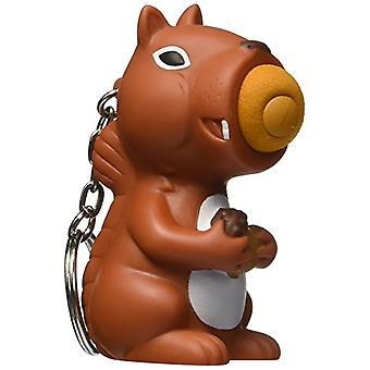 Hog Wild Toys Popper Squirrel Keychain