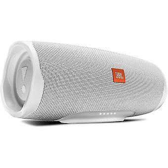 JBL Charge 4 Portable Bluetooth Speaker and Power Bank with Rechargeable Battery Waterproof White