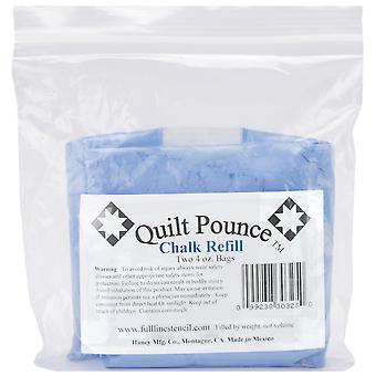 Quilt Pounce Chalk Refill-4oz Blue Q7B