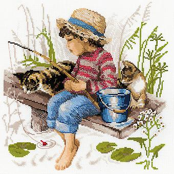 Let's Go Fishing Counted Cross Stitch Kit-11.75