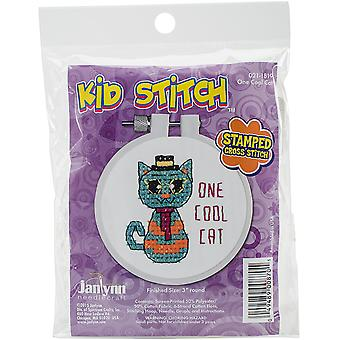 Bengel Stitch ein Cool Cat Cross Stitch Kit-3 gestempelt