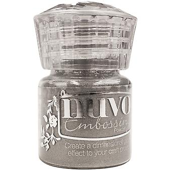 Nuvo Embossing Powder .74oz.-Classic Silver NEP-601