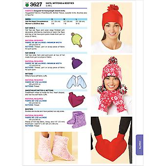 Hats, Mittens & Booties  S  M  L Pattern K3627