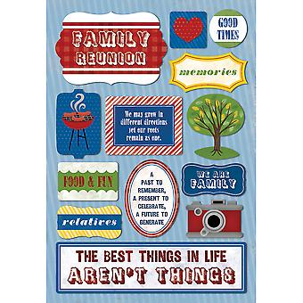 Family Cardstock Stickers 5.5