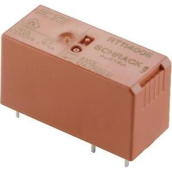 PCB relays 12 Vdc 8 A 2 change-overs TE Connectivity RT424012 1 pc(s)