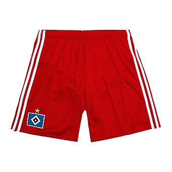 2016-2017 Hamburg Home Adidas Shorts (rot)