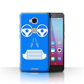 STUFF4 Case/Cover for Huawei Honor 5X/GR5/Radiator/Blue/Car Part Faces