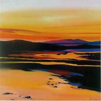 Pam Carter print - Sunset, Broadford, Skye