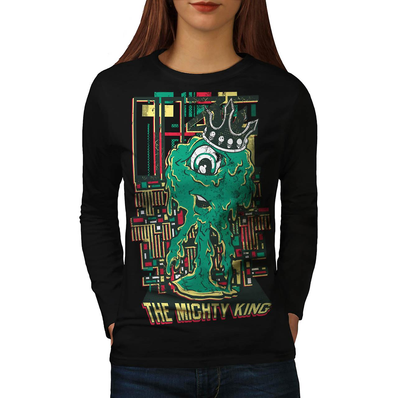 Mighty King Monster Cyclops Life Women Black Long Sleeve T-shirt | Wellcoda
