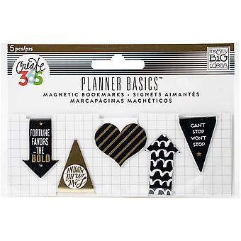 Create 365 Happy Planner Mini Magnetic Clips 5/Pkg-Gold MAGP01