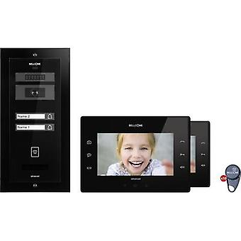 Video door intercom Corded Complete kit Bellcome KIT.VPA.2FR02.BLB Semi-detached Black