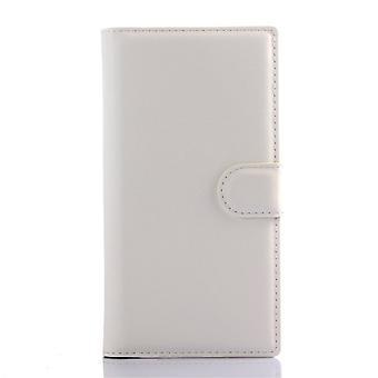 Type PU skinn lommebok dekning for Kiritkumar Highway Star 4 g (hvit)